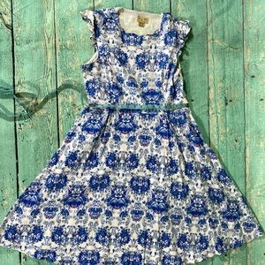 Lindy Bop blue floral dress